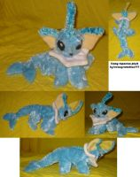 Fuzzy vaporeon plush by teenagerobotfan777