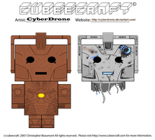 Cubeecraft- Wooden Cyberman and Handles by CyberDrone