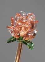 Glass flower lampwork bead by fairyfrog
