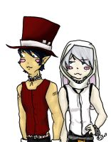 mad hatter and the white rabit by inathompson