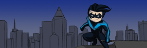 Scribblenauts: Nightwing by rawendeavors