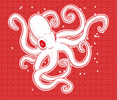 Red Octopus by crumby99