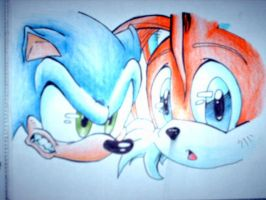 Sonic and Tails by babyrikku07