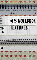 5 notebook Textures by Amazing-Design