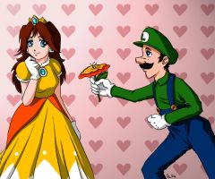 Love: Daisy and Luigi by raiyneofgailin