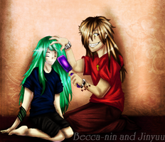Collab- let me brush your hair by Becca-nin