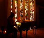 Lite-Brite Matrix Stained Glass Tile Columns 4 by Windthin