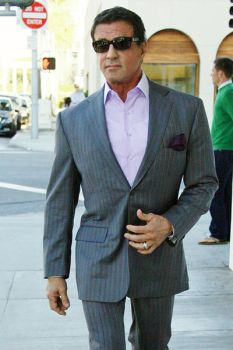 Sylvester Stallone dressed up by DoubleXposure