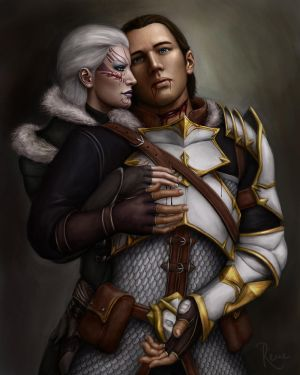 'My Lioness' - Sekhmet Hawke and Sebastian by DragonReine
