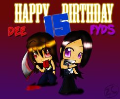 Dee and Fyds : Teh Babes by zeechan