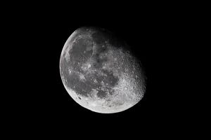 85 Percent Waning Gibbous Moon by lifeinedit