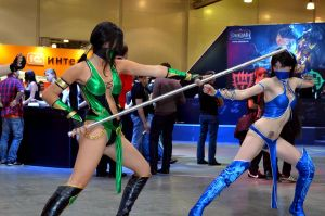 Kitana VS Jade by Jane-Po