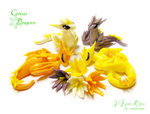 Crocus dragons by rosepeonie