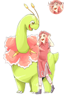 Sakura Haruno and Meganium Render by iJazchan