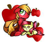 BigMacintosh and AppleBloom Fillys by MiningCazzy