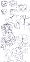 Page o' Musclemonster Doodles by gitbigger