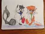 Johnny Cat All Wet by Hazeltail55