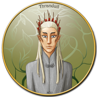 LotR/H: Portrait of an Elvenking by Houkakyou