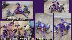 Douglas Dragons Snuffle, Snort, and Embers by Vesperwolfy87