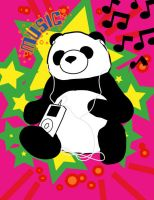 Rockin Panda by mackinator