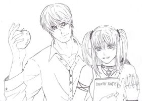 Collab Kira and Misa by DrunkenMaster2