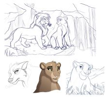 Sketch Dump - January 2014 by kohu-scribbles