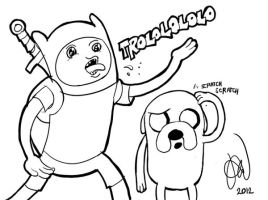Finn the Human and Jake the Dog of Adventure Time by alvinsanity