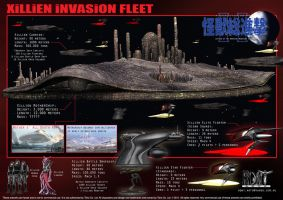 the Xillien Invasion Fleet by LDN-RDNT
