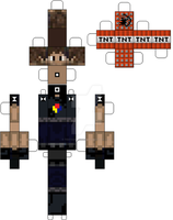 MineCraft: HomelessGoomba (Issac Frye) Paper Doll by Testsubject276