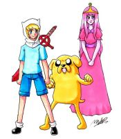 Anime Adventure Time by EvilMel