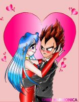 Vegeta and Bulma Romance by princesstressa