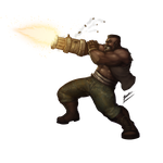 Final fantasy tribute: Barret by b-cesar