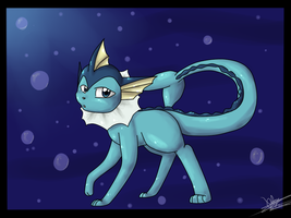 Vaporeon by Freeze-pop88
