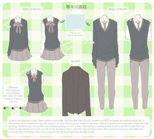 [Todokawa High] Uniforms by hana-e