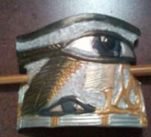 Eye of Horus Stick Barette by ShiningStarStag