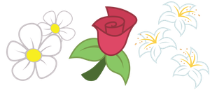 Flower Trio Cutie Marks by ErisGrim