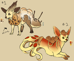 Food theme creatures by Kemikel