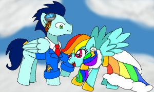 rainbow dash and soarin by cartoonfan88