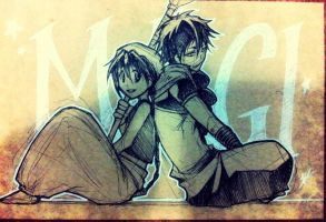 Magi - sketch card by pandabaka