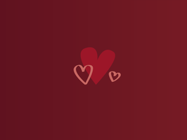Valentine Hearts by PaperTheWall