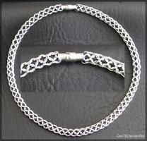 Chainmaille necklace by Gex78