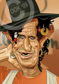 Keith Richards by RussCook
