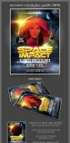 Space impact party flyer template by hugoo13