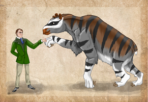 Johann Kaup and his Chalicotherium by Pelycosaur24