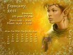 February 2011 desktop calendar by Lirulin-yirth