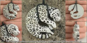 Snow Leopard Necklace by Chaotica-I