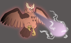 Noctowl used Psychic by LeeLeeMoreau