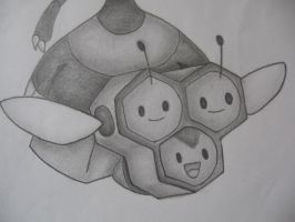Combee Drawing by sazmullium
