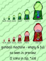 gumball machine recycling icon by gr8koogly