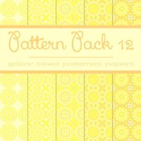 Free Pattern pack 12: Yellow Patterned Papers by TeacherYanie